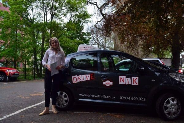 Driving lessons Bounds Green Tina passed her practical driving test first time
