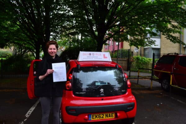 Driving lessons Wood Green Aleks passed her practical driving test first time