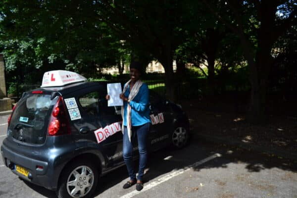 Driving lessons Edmonton Ayan passed her practical driving test