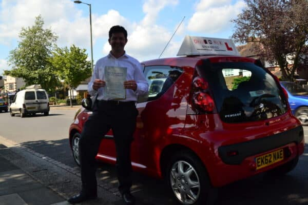 Automatic Driving lessons Barnet Chris passed his practical driving test first time