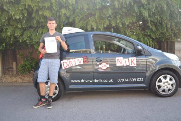 Driving lessons Muswell Hill Harry passed his practical driving test