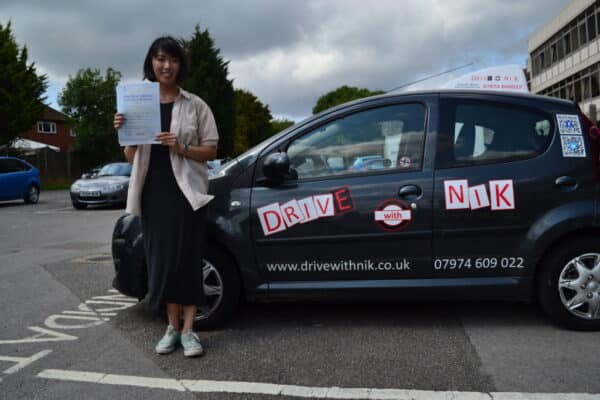 Driving lessons North Finchley Yonnica passed her practical driving test first time