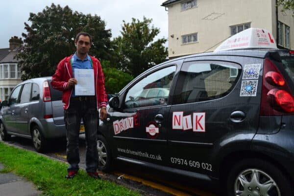 Driving lessons Palmers Green Laurentiu passed his practical driving test first time