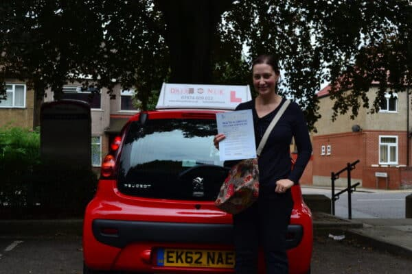 Driving lessons Winchmore Hill Thea passed her practical driving test first time