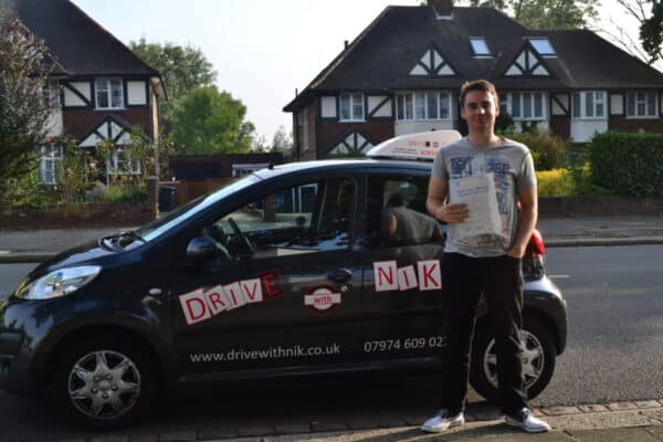 Driving lessons Southgate James passed his practical driving test