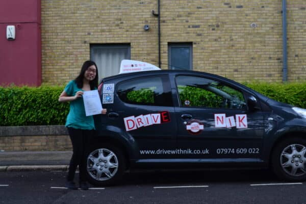 Driving lessons Wood Green Oasis passed her practical driving test first time