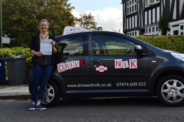 Driving lessons Muswell Hill Sara passed her practical driving test with Drive with Nik