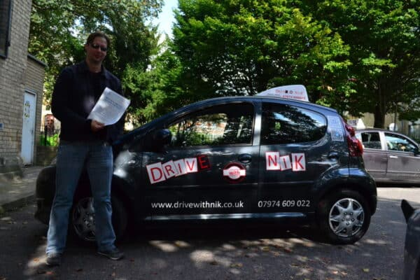 Driving lessons Crouch End Thomas passed his practical driving test first time