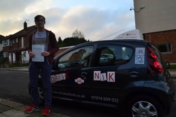 Driving lessons Muswell Hill Sam passed his practical driving test first time
