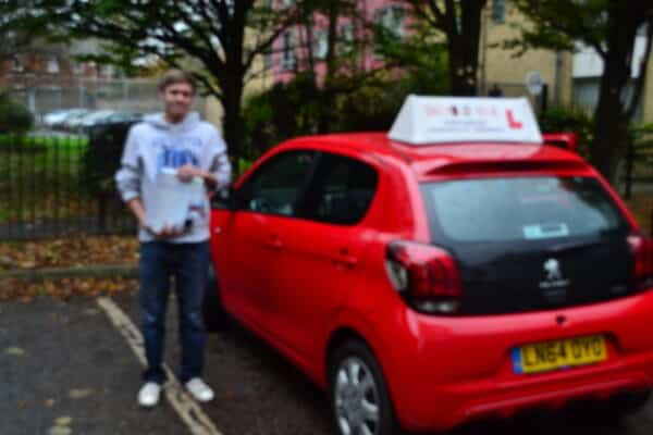 Driving lessons Palmers Green Jack passed his practical driving test with Drive with Nik