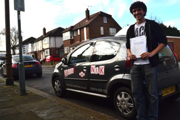 Driving lessons Southgate Jeremiah passed his practical driving test with Drive with Nik