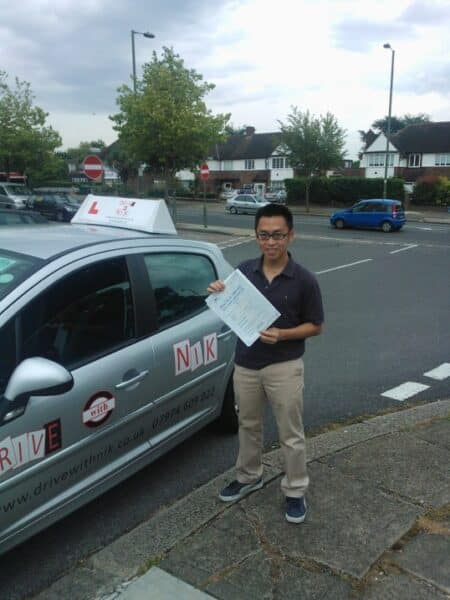 passed his practical driving test