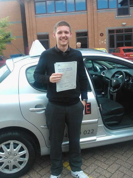 connor passed his driving test