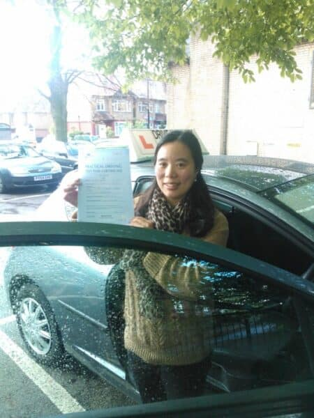 hannah passed her practical driving test