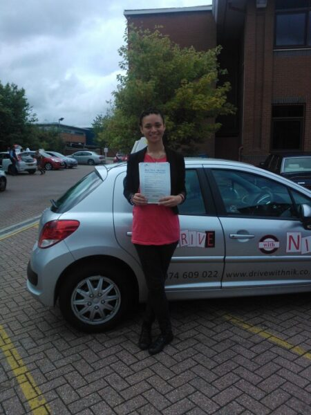 Isobel passed her driving test