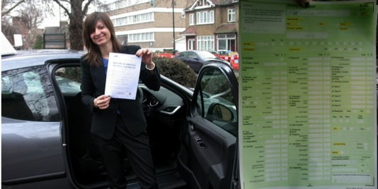 nicola passed her driving test