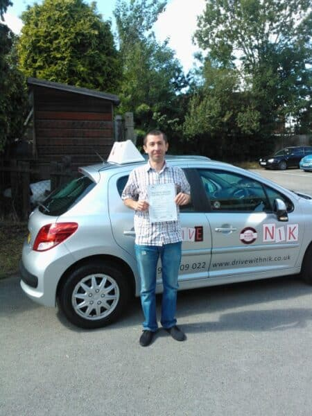 pass his practical driving test