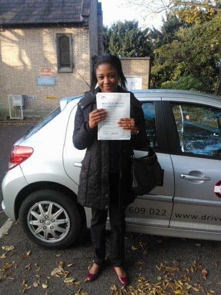 Juliet passed her driving test