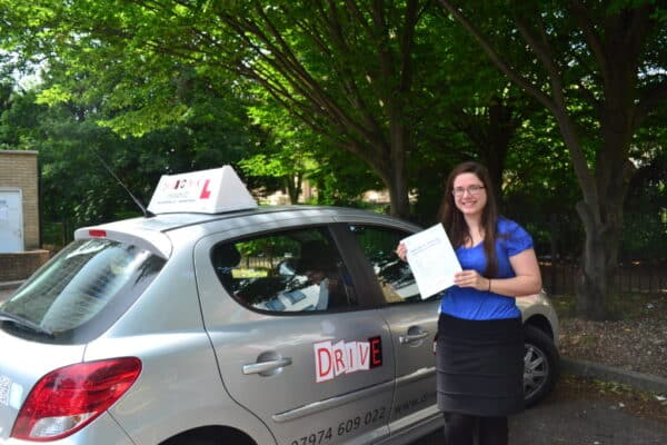Julia passed her driving test first time
