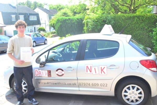 Driving lessons Friern Barnet Michael passed first time