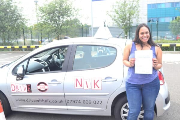 Driving lessons Enfield Amanda passed her driving test