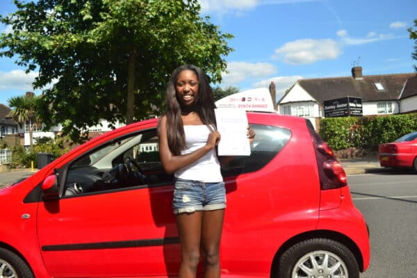 Driving lessons Friern Barnet Georgia passed her driving test first time