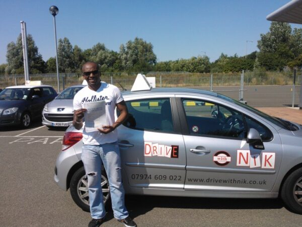 Driving lessons Wood Green Norris passed his driving test