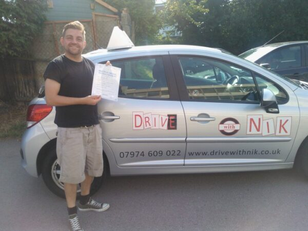 Driving lessons North Finchley Phil passed his driving test first time