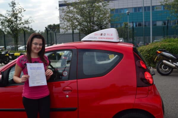 Driving lessons Palmers Green Sevim passed her driving test first time