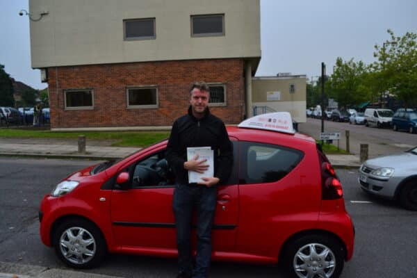Automatic Driving lessons Muswell Hill Gavin passed his automatic driving test first time