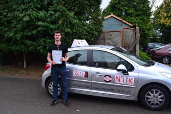 Driving lessons Enfield Will passed his practical driving test first time