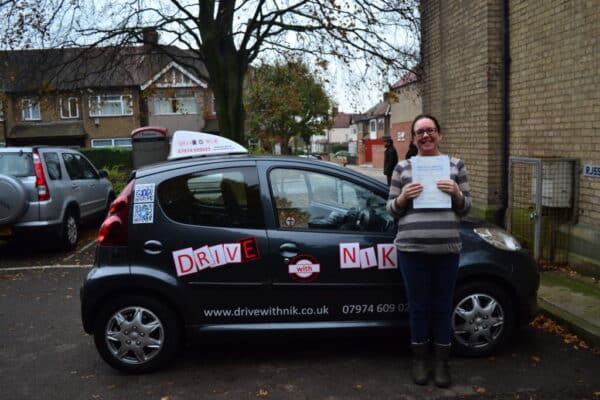 Driving lessons Wood Green Suzanne passed her practical driving test