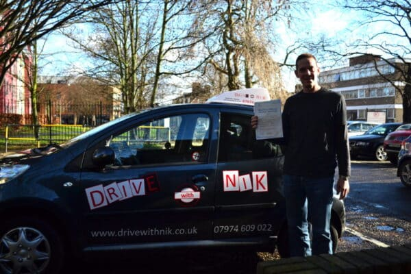 Driving lessons Stoke Newington John passed his practical driving test