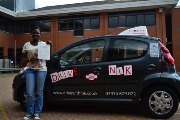 Driving lessons Barnet Hagar passed her practical driving test with Drive with Nik