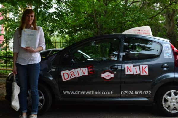 Lauren passed her practical driving test first time with Drive with Nik
