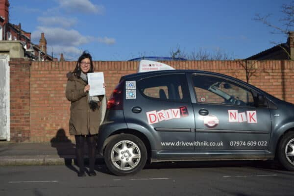 Katie passed her manual practical driving test first time with Drive with Nik