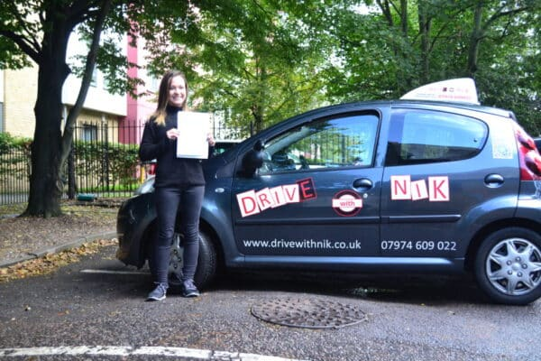 Lauren passed her manual practical driving test first time with Drive with Nik