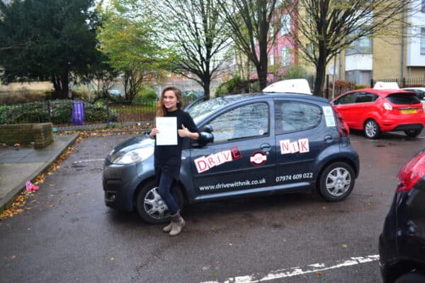 Joanna passed her manual practical driving test first time with Drive with Nik