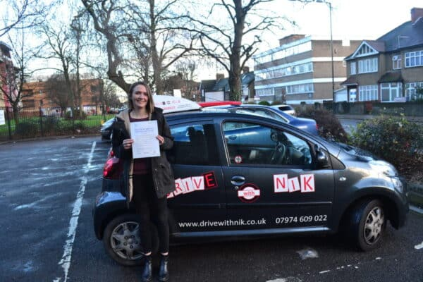 Maddy passed her manual practical driving test with Drive with Nik