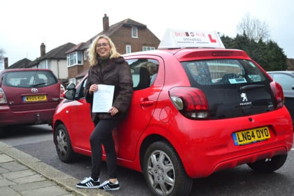 Automatic Driving Lessons Muswell Hill Poppy passed her automatic driving test with Drive with Nik