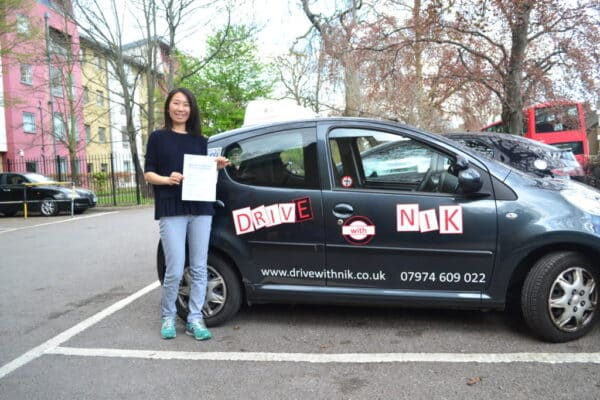 Driving lessons Wood Green Hill Chunli passed her practical driving test first time with Drive with Nik