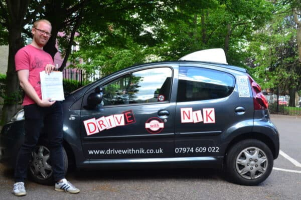 Driving lessons Bounds Green Will passed his practical driving test first time with Drive with Nik