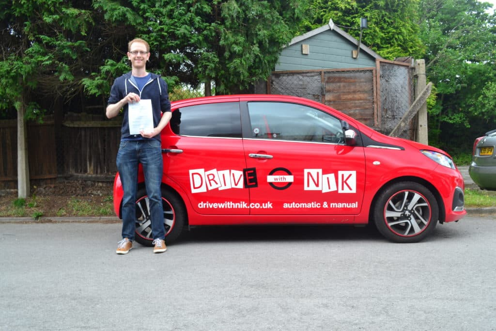 Manual Driving Lessons Wood Green. Phil passed his practical driving test with Drive with Nik.