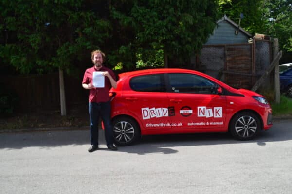 Automatic Driving Lessons Crouch End. Paul passed his practical driving test with Drive with Nik.