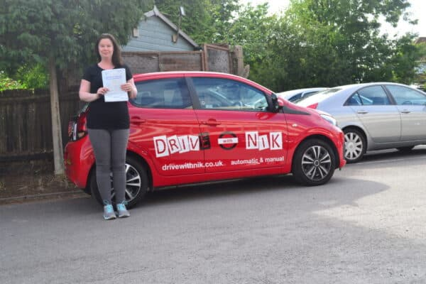 Automatic Driving Lessons Crouch End. Jennifer passed her automatic driving test first time with Drive with Nik