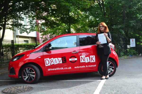 Manual Driving Lessons Haringey. Magda passed her practical driving test first time with Drive with Nik.