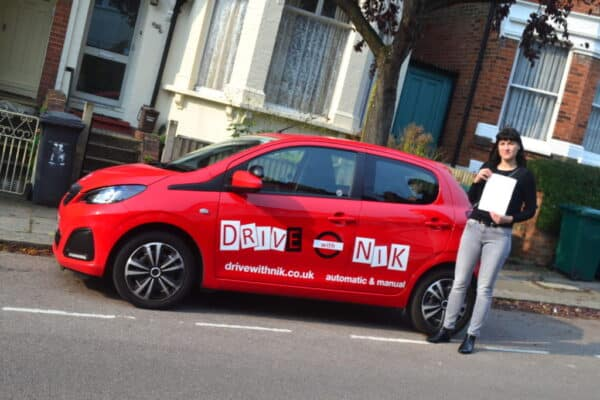 Driving Lessons Finchley. Marlena passed 1st time.
