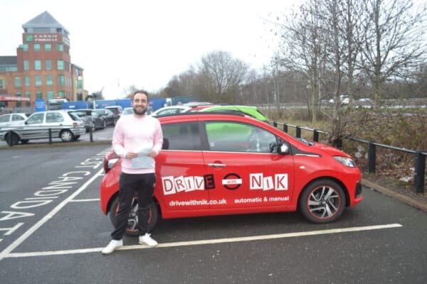 Manual Driving Lessons East Finchley Jack passed his manual driving test with Drive with Nik