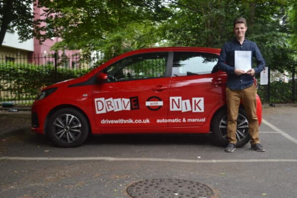 Edward passed his automatic driving test first time with drive with Nik.