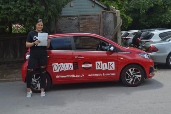 Manual Driving Lessons New Southgate. Parris passed her driving test first time with Drive with Nik.